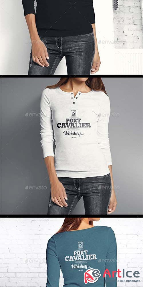 Woman Longsleeve Shirt Mock-up