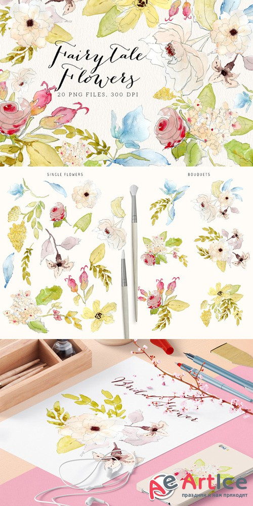 Fairytale Flowers - Creativemarket 466719