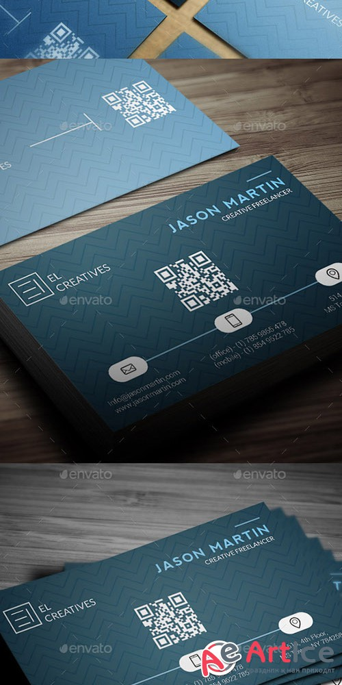 Creative Blue Business Card - 07 - GraphicRiver 12683264