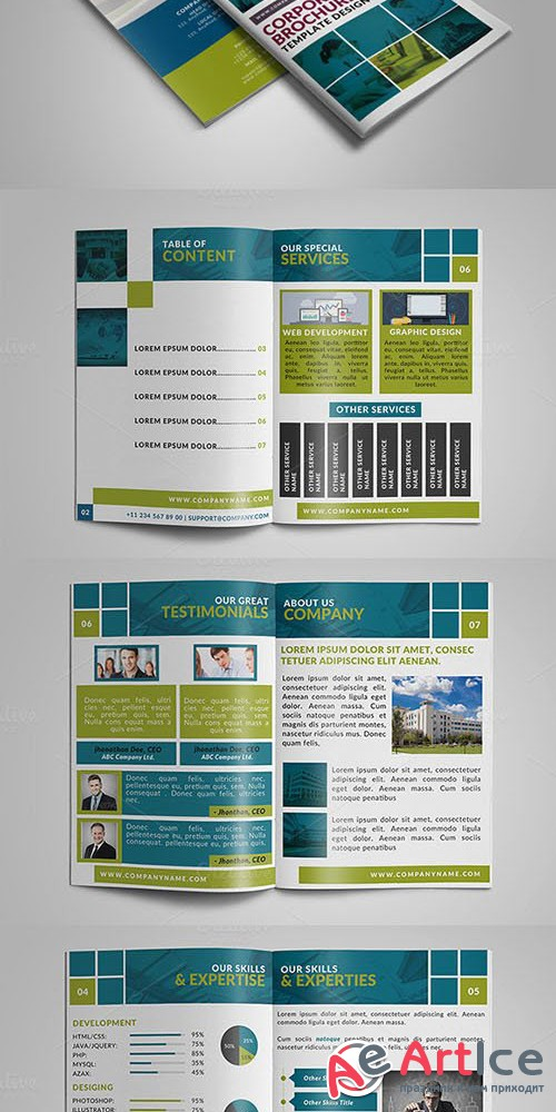 8 Page Corporate Bifold Brochure 2