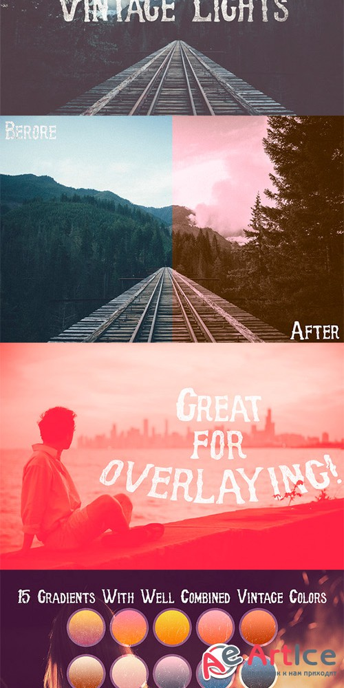 """Vintage Lights"" Gradients - Creativemarket 143867"