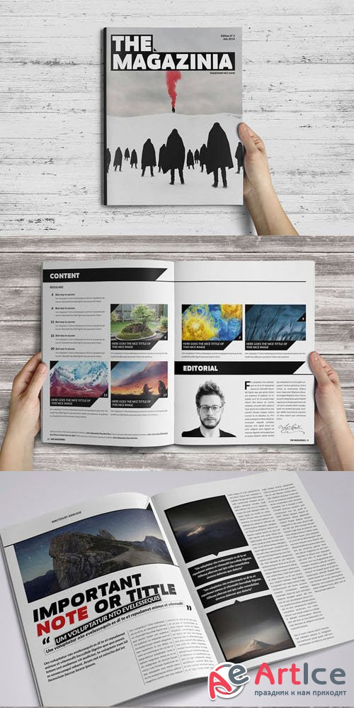 The Magazinia Indesign Template