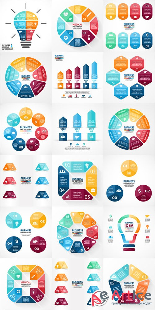 Big Infographic Bundle. EPS, AI, PSD - Creativemarket 303256