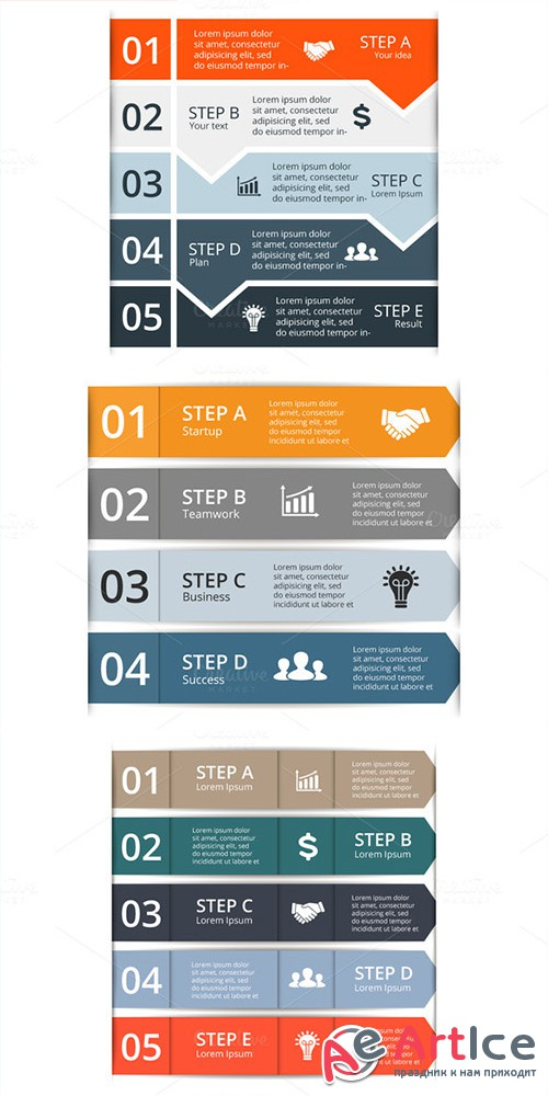 9 Graphs For Infographic - Creativemarket 332679