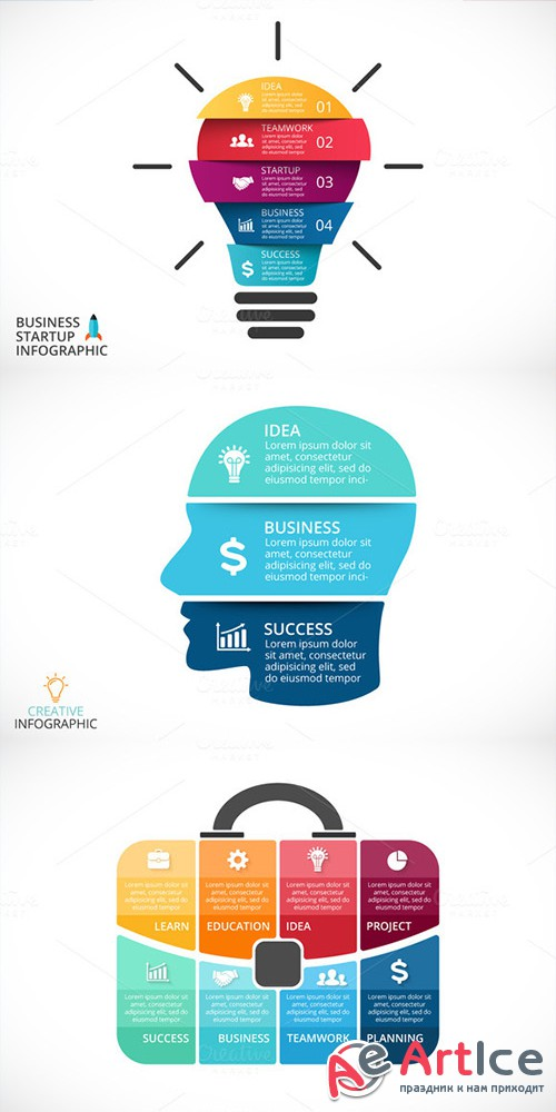 Business Project Infographics - Creativemarket 318973
