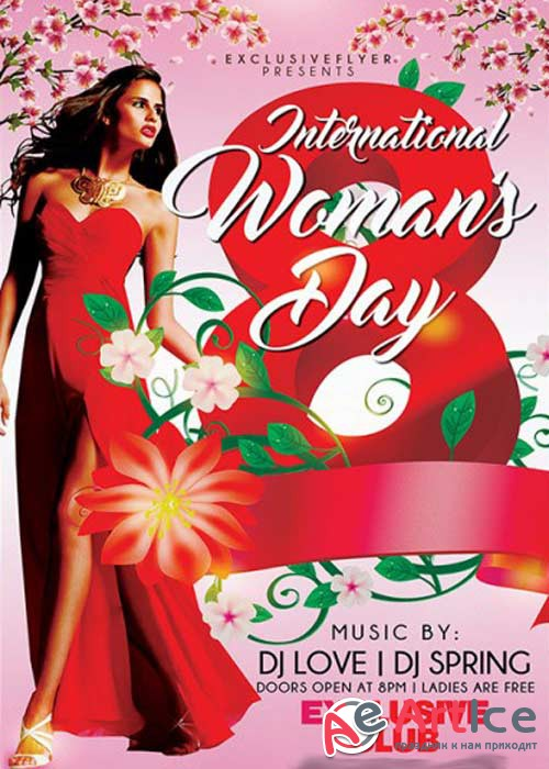 Womens Day Celebration Premium Flyer Template + Facebook Cover