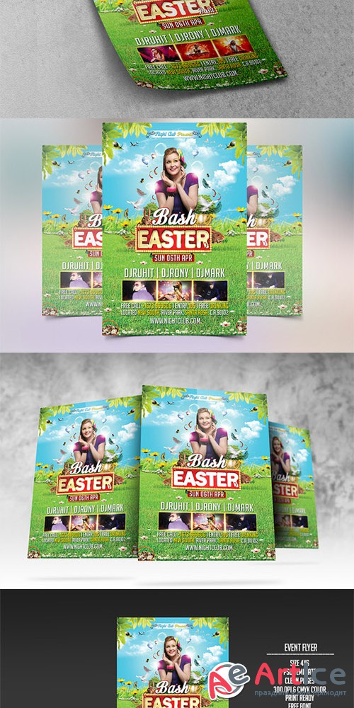 Easter Bash Party Flyer - Creativemarket 209414