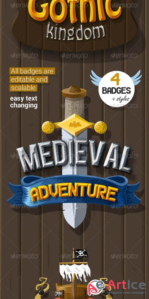 Medieval Badges + Styles