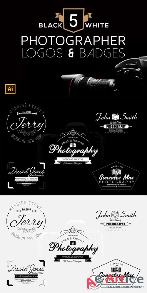 5 Photographer Logo & Badges - Creativemarket 338779