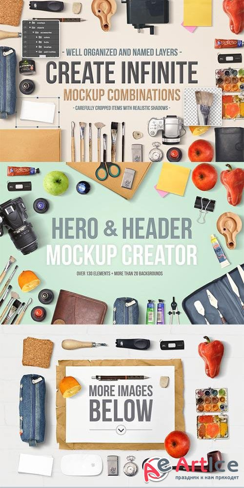 Hero & Header Mockup Creator