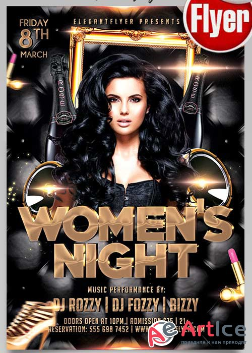 Womens Night Flyer PSD Template + Facebook Cover