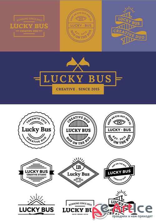 Logo and Emblem Templates  - Creativemarket 401379