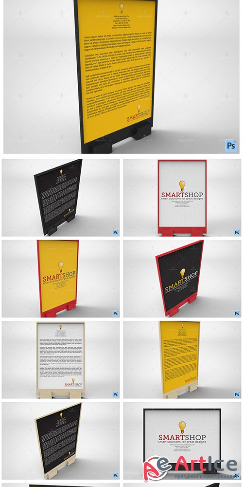 Flyer Display Mockup - Creativemarket 565554