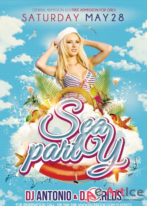 Sea party Flyer V1 PSD Template