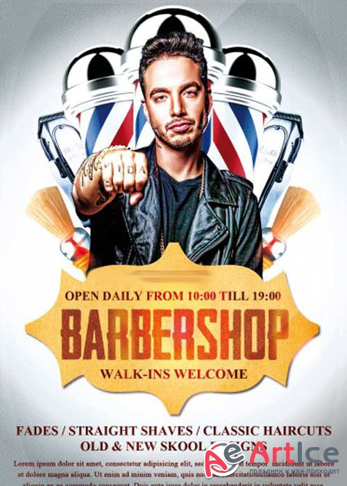 Barbershop V7 PSD Flyer Template
