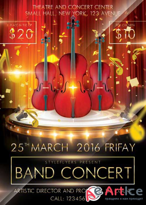 Band Concert V1 PSD Flyer Template