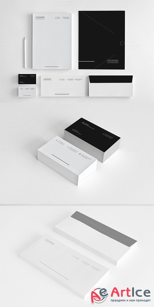 Minimalist Stationery vol.3 - Creativemarket 139649
