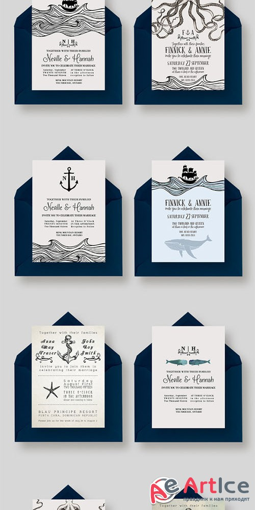 GIANT Nautical Wedding Collection - Creativemarket 340161