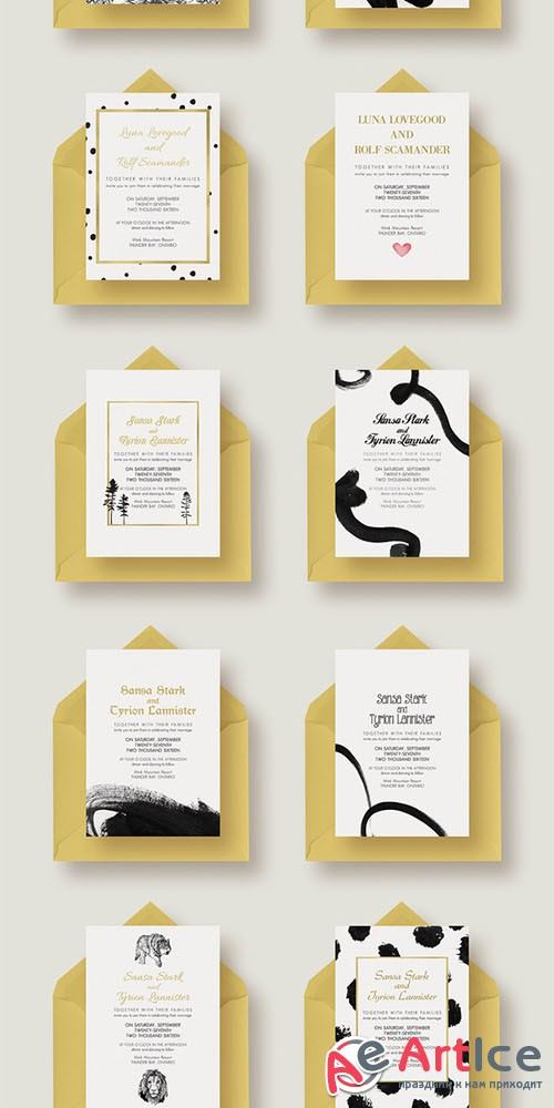 Chic,Modern&Bold Wedding Collection - Creativemarket 325013