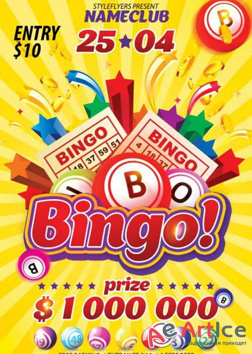 Bingo V1 PSD Flyer Template