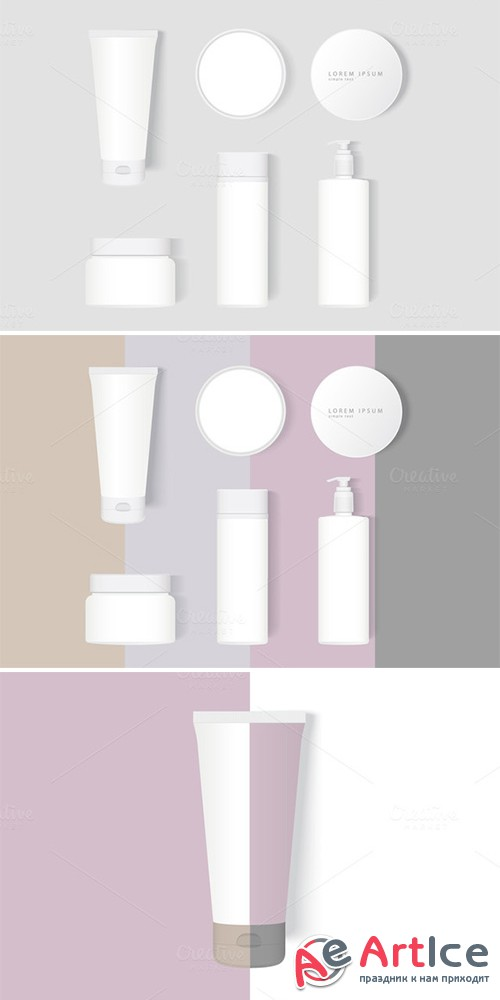 Set Cosmetics Mock-Up - Creativemarket 544707