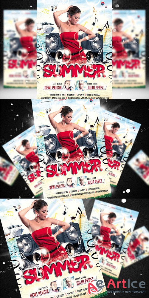 Summer Flyer Template - Creativemarket 682780