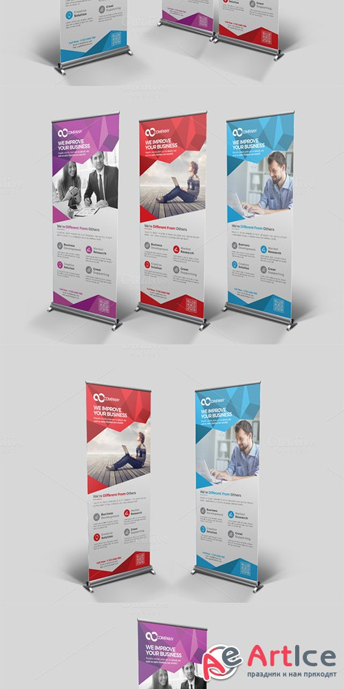 Multipurpose Roll Up Banner - Creativemarket 682497