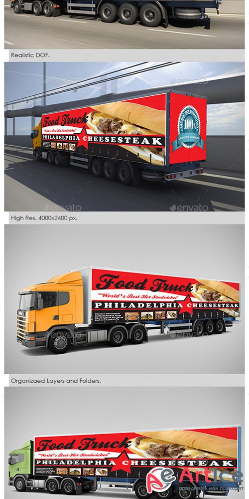Billboard and Truck Mock-Up - Graphicriver 5310583