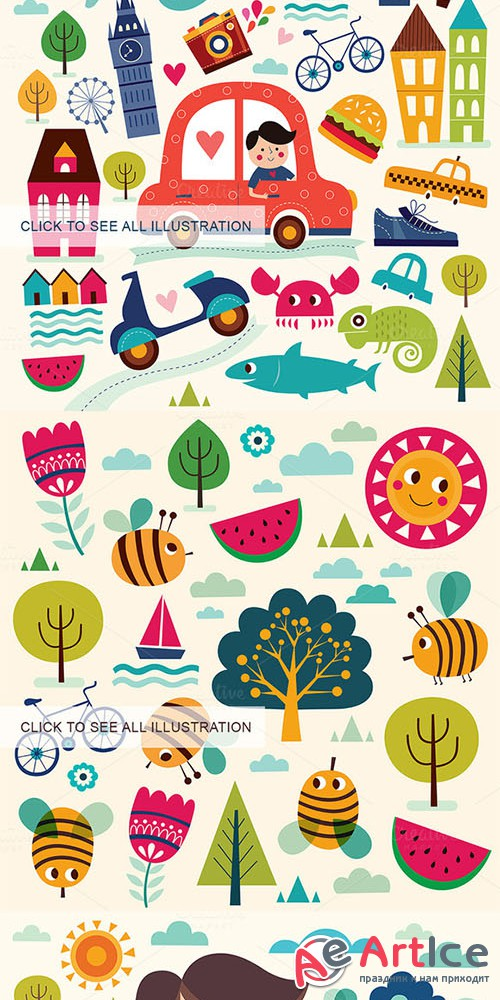 Summer and travel collection - Creativemarket 302826