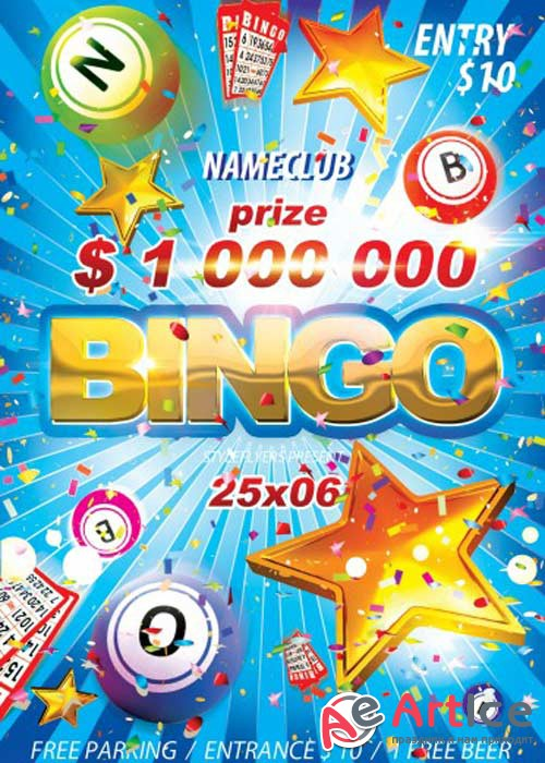 Bingo V4 PSD Flyer Template