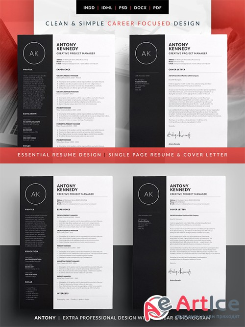 Essential Resume - Antony - Creativemarket 584584
