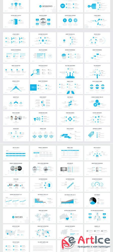 BENCHMARKING PowerPoint Template - Creativemarket 470870