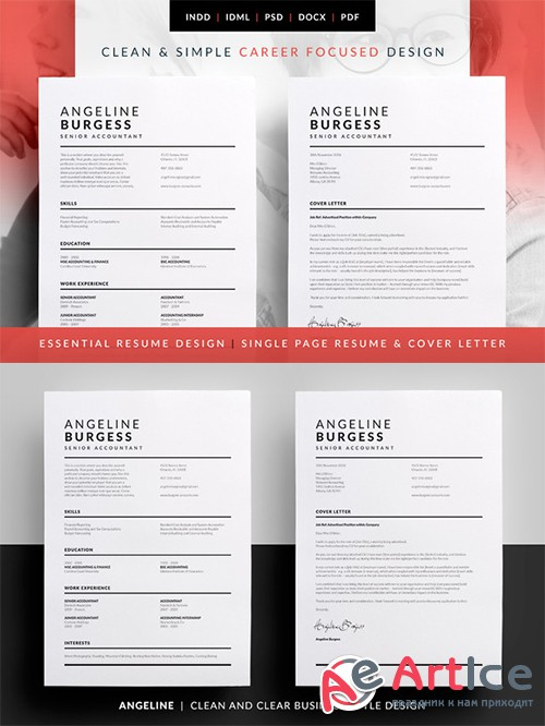 Essential Resume - Angeline - Creativemarket 584577