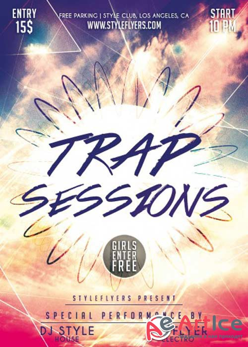 Trap Sessions PSD Flyer Template