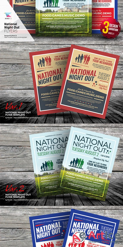 National Night Out Flyer Templates - Creativemarket 654888
