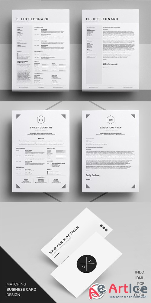 Resume/CV - Threebie Bundle 4 - Creativemarket 433189