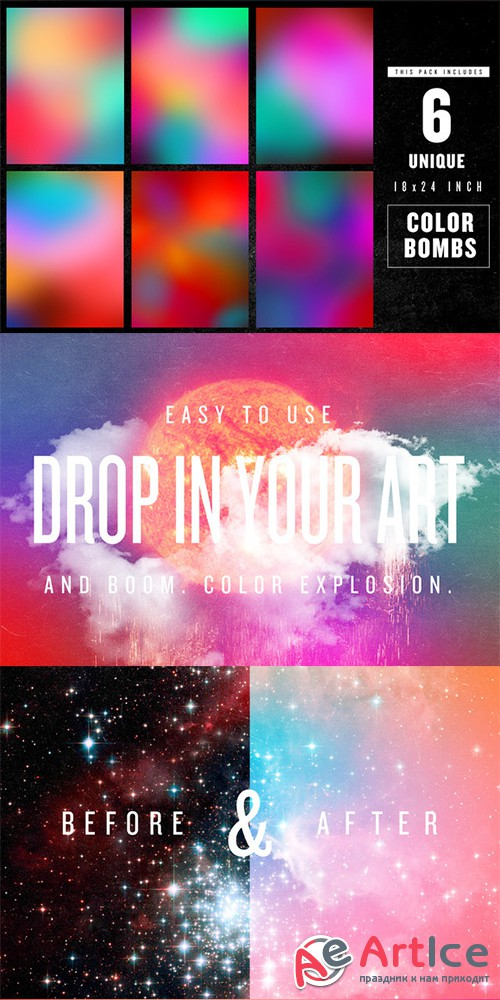 COLOR BOMB VOL. 1 - Creativemarket 25381