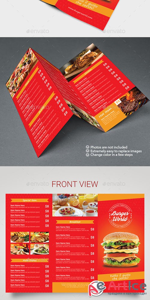 GraphicRiver - Big Burger Trifold Menu 10843686