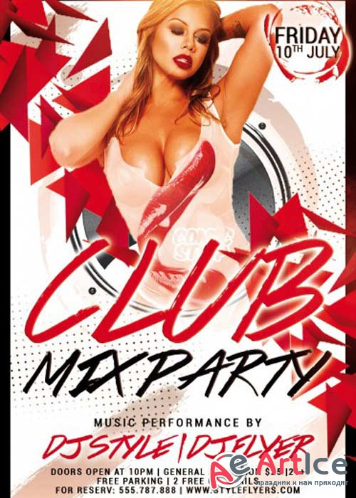 Club Mix Party V3 Flyer Template