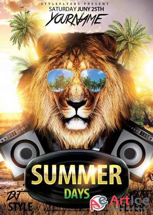 Summer Days V4 PSD Flyer Template