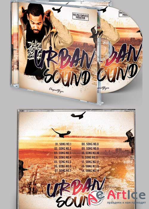 Urban Sound CD Cover PSD Template