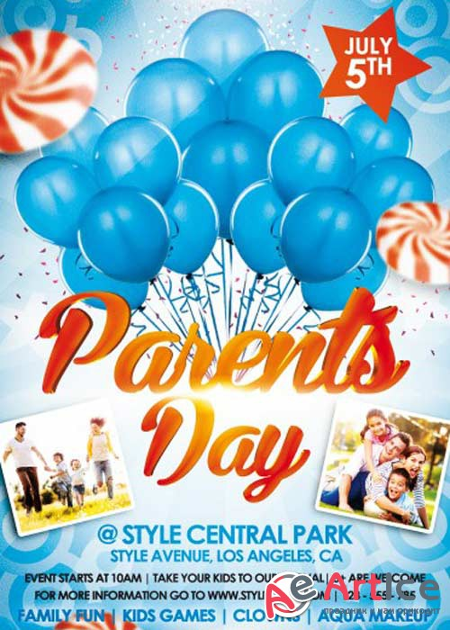 Parents Day V1 PSD Flyer Template