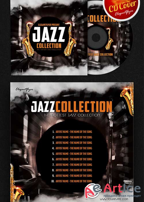 Jazz CD Cover PSD Template