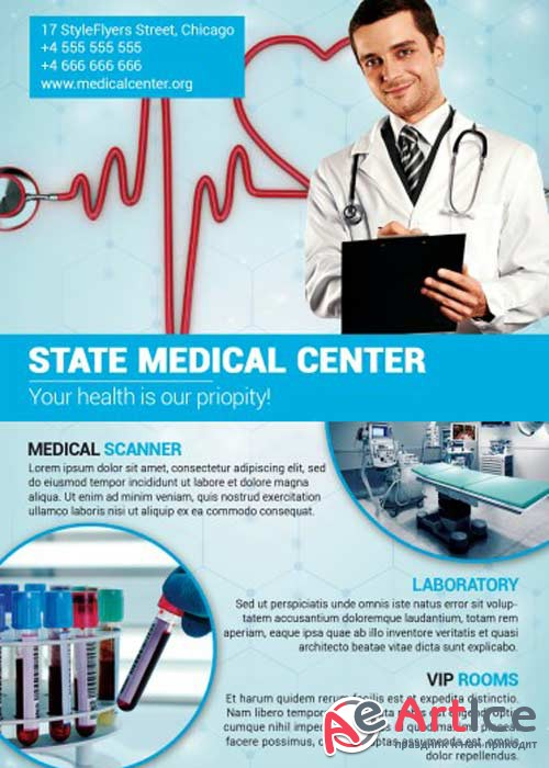 Medical Center V3 PSD Flyer Template
