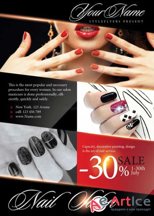 Nail Salon V1 PSD Flyer Template