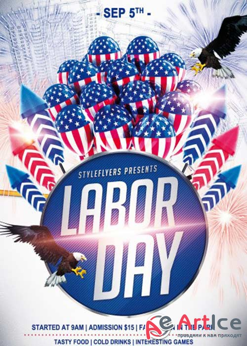 Labor Day V3 PSD Flyer Template