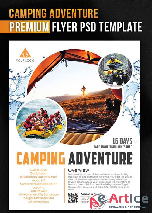 Camping Adventure V1Flyer PSD Template + Facebook Cover