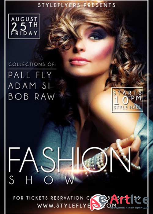 Fashion Show V6 PSD Flyer Template