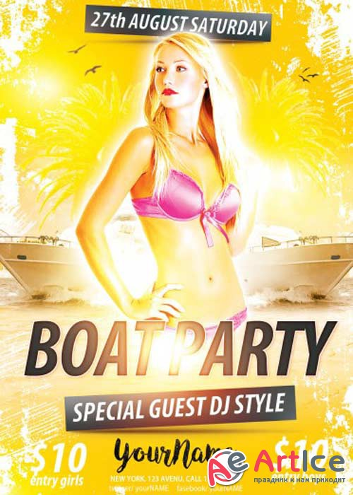 Boat Party V3 PSD Flyer Template