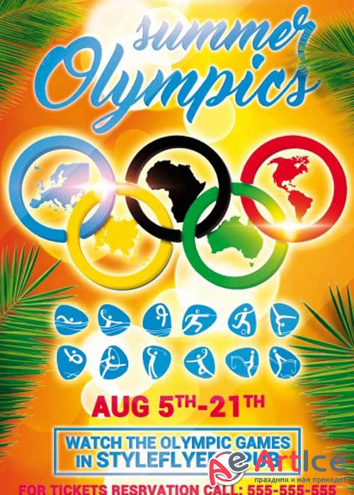Summer Olympics PSD Flyer Template